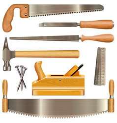 carpentry tools vector image vector image