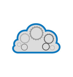 cloud shield security approval vector image vector image