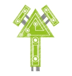 drawing computer circuit arrow electronic vector image vector image