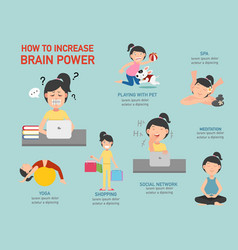 How to increase brain power infographic vector