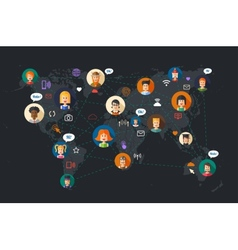 Modern flat design of people social network vector image