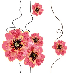 Seamless floral background design vector image vector image