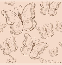 seamless pattern with butterfly vintage butterfly vector image vector image