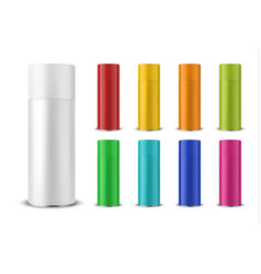 3d realistic colorful blank spray can vector image