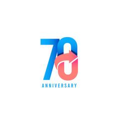 70 year anniversary logo template design vector