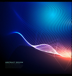 Abstract technology background composed dots vector