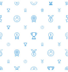 Achievement icons pattern seamless white vector