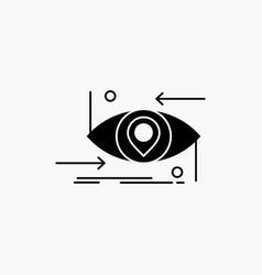 advanced future gen science technology eye glyph vector image