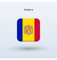 Andorra flag icon vector