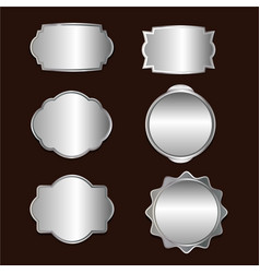 Antique silver retro frame collection vector