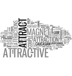 Attract word cloud concept vector
