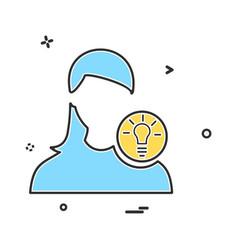 avatar female icon design vector image