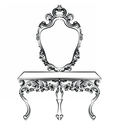 Baroque luxury style furniture vector image