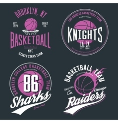 Basketball ball or sport game t-shirt design vector image