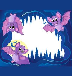 Bats theme image 3 vector