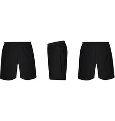 Black shorts template vector