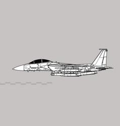 Boeing f-15e strike eagle plus agm-158 jassm vector