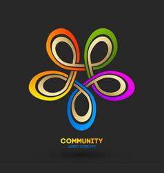 Business networking logo logo design company vector