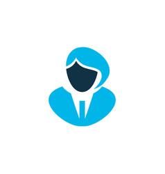 Businesswoman icon colored symbol premium quality vector