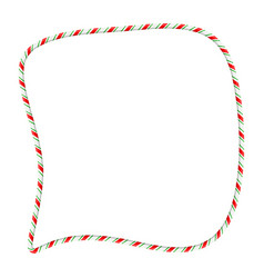candy cane frame border for christmas design vector image