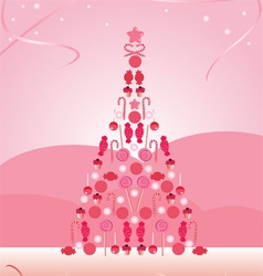 Candy christmas tree vector