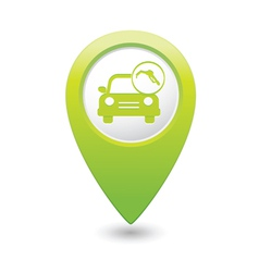 car with fast refueling icon map pointer green vector image