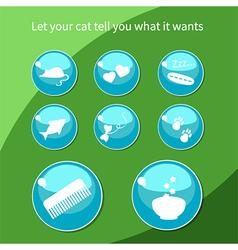 Cat buttons vector