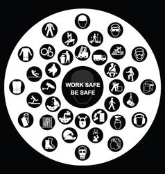 Circular Health and Safety Icon collection vector