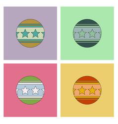 Circus balls set vector