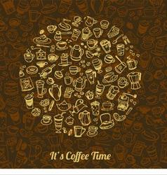 Coffee doodle 5 vector