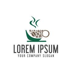 Coffee shop logo design concept template vector