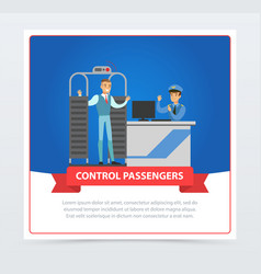 control passengers at airport vector image
