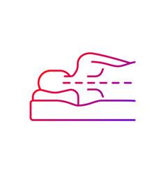 Correct sleeping position for spinal health vector