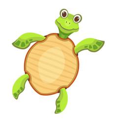 Dancing turtle icon cartoon style vector