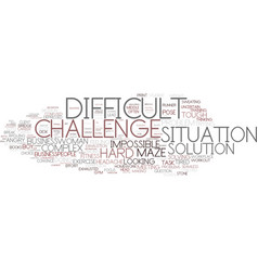 Difficult word cloud concept vector