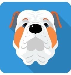 dog English Bulldog icon flat design vector image