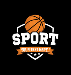e sport logo basketball inspiration vector image