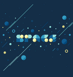 flat concept of fantasy galaxy in huge universe vector image
