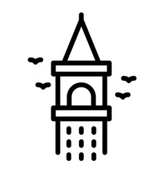 Galata tower icon outline style vector