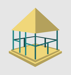 garden pavilions and garden furniture icon vector image
