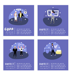 general data protection regulation concept gdpr vector image