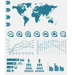 Geographic and map infographic vector