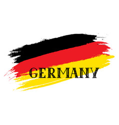 German flag with handwritten lettering germany vector