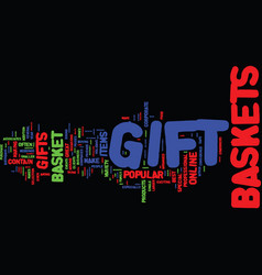 gift basket advice text background word cloud vector image