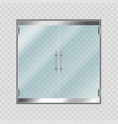 glass entrance doors vector image