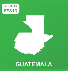 Guatemala map icon business concept guatemala vector