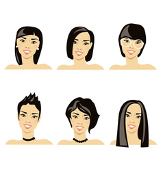 Hairstyle japanese vector