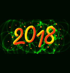 happy new 2018 year 3d gradient 2018 number and vector image