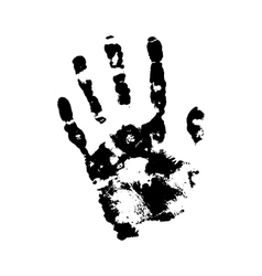 Human grunge handprint with skin texture vector