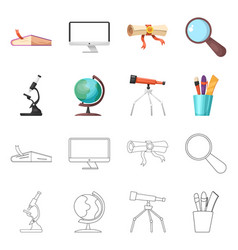 isolated object education and learning logo vector image